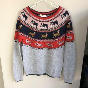 Boden fair isle dog sweater size S